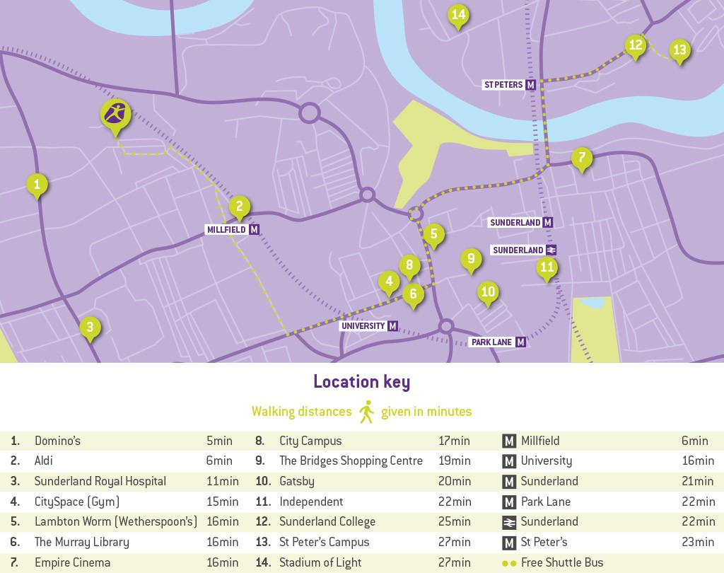 u-student-Sunderland-map-and-key-1024x810