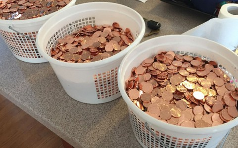 pay parking fine with pennies