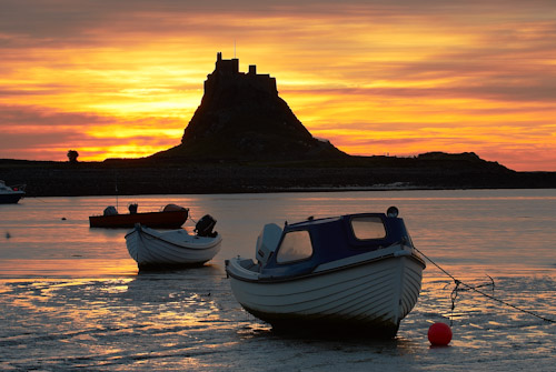 Boats at Holy Island